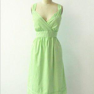 A.P.N.Y. Dresses - Green Striped Summer Dress